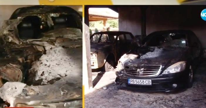 кадър Нова телевизияДва автомобила, камион и трактор, които са собственост