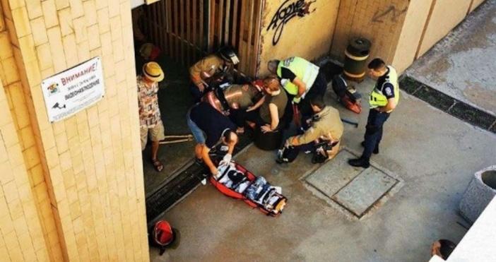 Кадър: Забелязано в СофияВъзрастна женапропадна в шахтана столичен подлез на