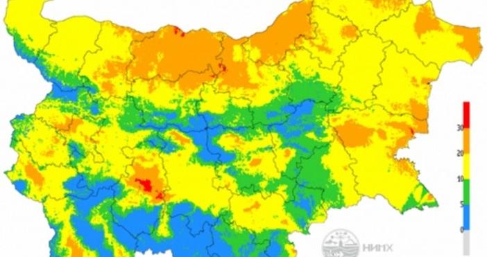 Агенция ФокусЕкстремален индекс за пожароопасност е в сила на места