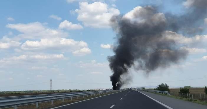 Голяма катастрофа е станала преди броени минути на магистрала