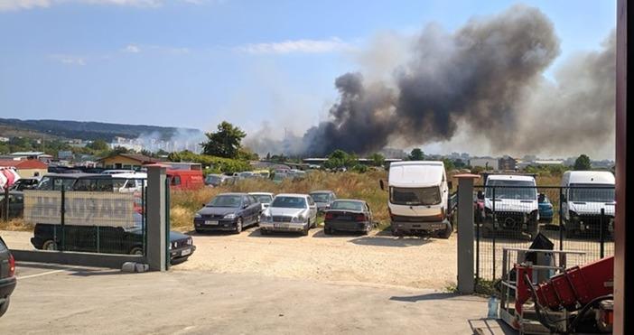 фото: Явор Филипов,Виждам те КАТ - ВАРНАПожарът в района на