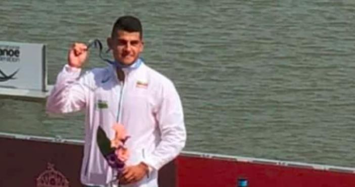 Снимка фейсбукАнгел Кодинов спечели сребърния медал на 500 м кану