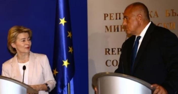 Пресконференцията при посещението на избраната за председател на Европейската комисия