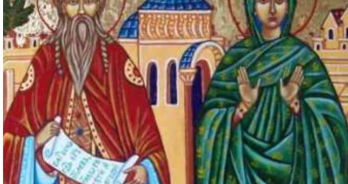 Снимка: Прекрасни имена черпят днес за родителите на Св. Йоан Кръстител