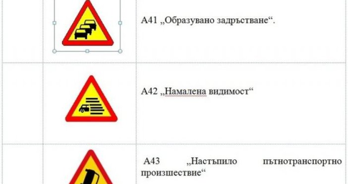 ДневникОсем нови пътни знака ще повишават пътната безопасност и ще