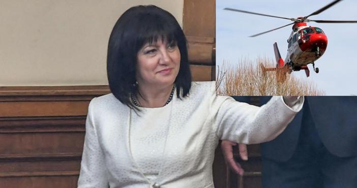Очаква се шефката на парламента да бъде траспортирана към СофияПредседателят