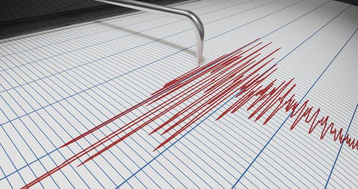 Земетресение с магнитуд 2,5 по скалата на Рихтер е регистрирано