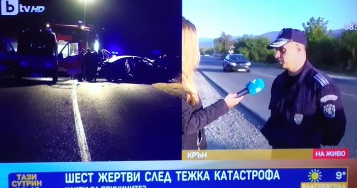 Началникът на пътен контрол към районно управление Казанлък Веселин Георгиев