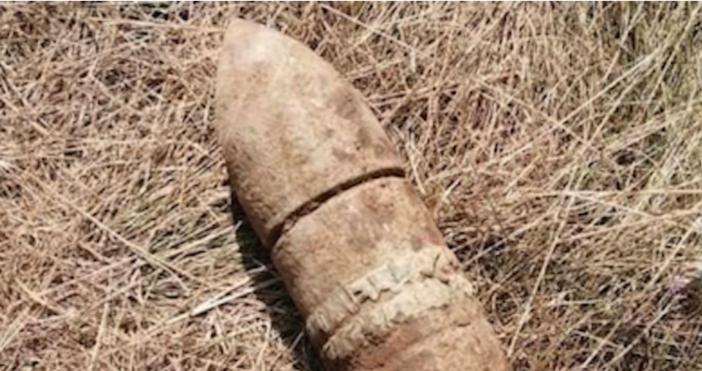 Снимка:Министерство на отбранатаОткриха силно корозирал метален предмет, наподобяващ боеприпас в