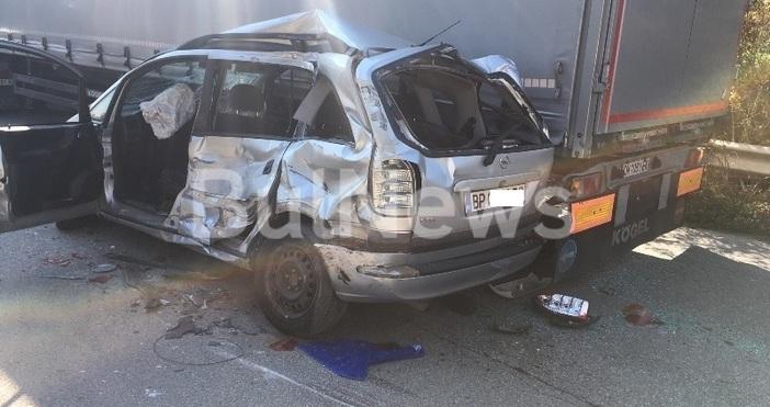 Снимка:BulNews.bgТежка катастрофа е затворила международен път Е-79 между Враца и