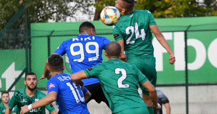 Играчът на мача между Витоша и Черно море Дани Кики