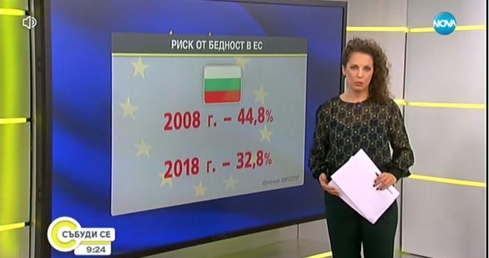 Това показват данни на ЕвростатЕдна трета от българите живеят в