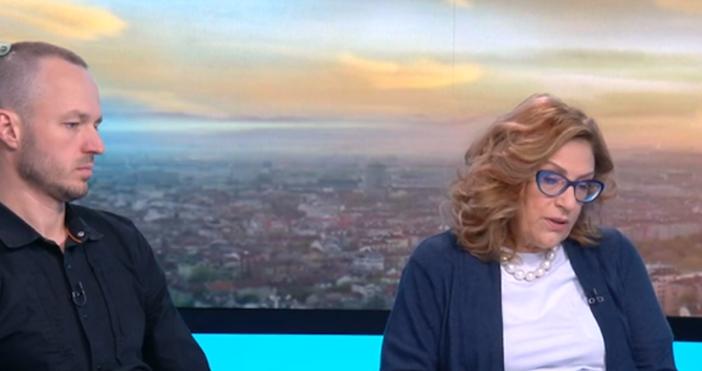 Кадър бТВПо професионалните теми,дебатътбеше смислен между г-жаЙорданка Фандъковаи г-н Борис