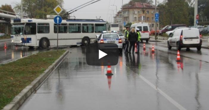 Видео: Русе МедиаФаталенинцидентстролейбус от градския транспорт стана тази сутрин вРусе.Превозното