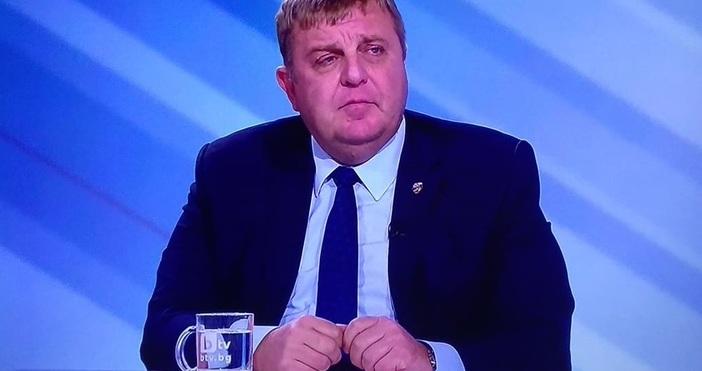Вицепремиерът и министър на отбраната Красимир Каракачанов коментира в предаването