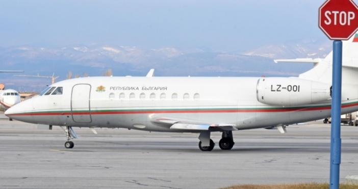 Малкият правителствен самолет с премиера Бойко Борисов на борда беше
