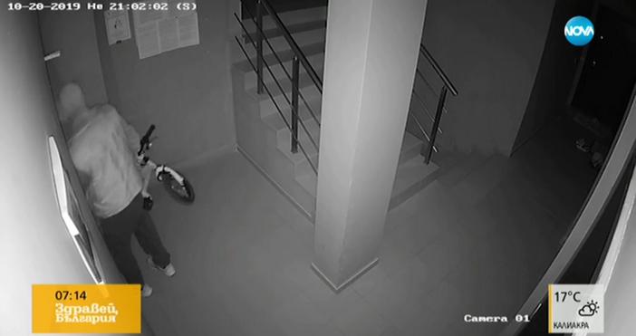 Крадец на маратонки и колелета засне зрителка на Нова тв.