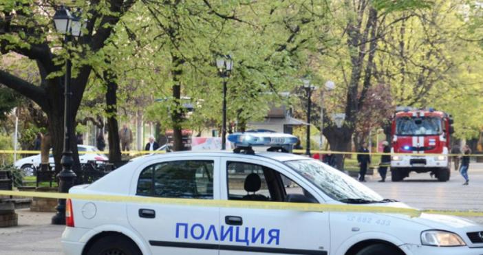 Снимка БулфотоПолицията във Велико Търново блокира района около кооперативния пазар