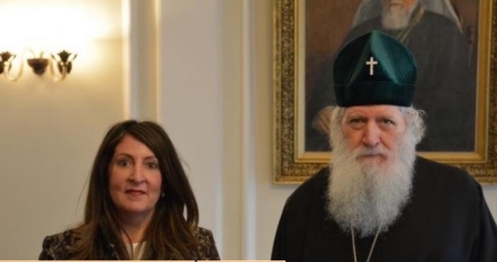 Снимка: БПЦБългарският патриарх Неофит прие днес новия посланик на САЩ