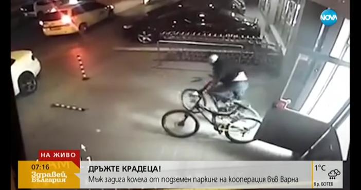 Мъж и жена крадат колелета от падземни паркинги във Варна,