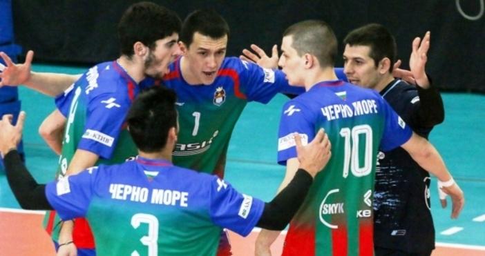 Волейболистите на Черно море - БАСКпостигнаха втора поредна драматична и