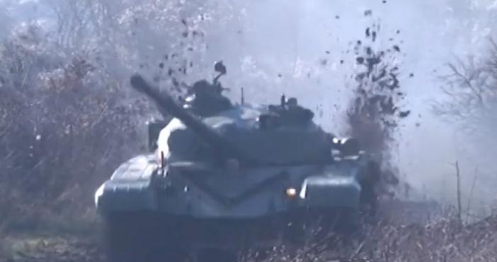 Кадри и видео:АrmymediaBgИзпитания на последния ремонтиран през тази година танк