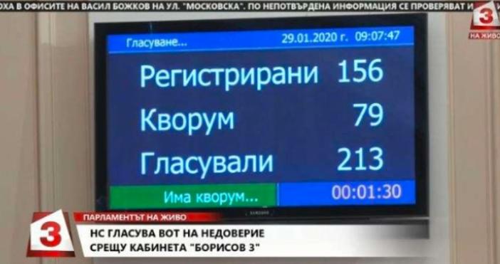 Кадър Канал 3Днес парламентът ще гласува внесения от БСП вот
