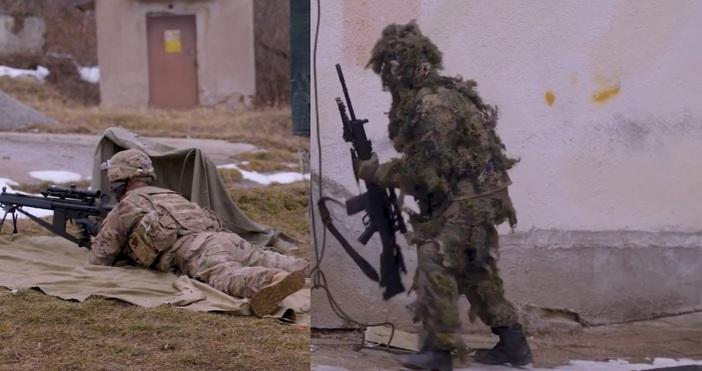Епицентър.бгОсвен съвместната подготовка на снайперистите, на учебен полигон