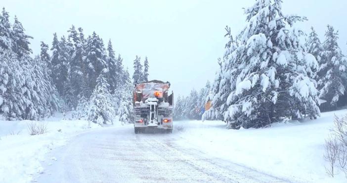 Снимка: АПИБлизо 400 машини обработват пътните настилки в районите със