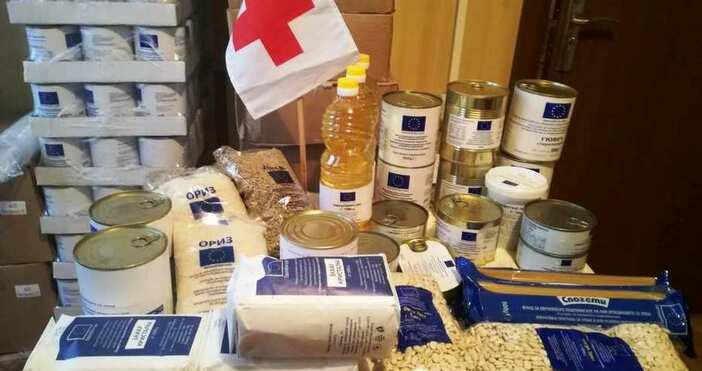 БНРБългарският червен кръст започва раздаването на хранителни продукти на социално