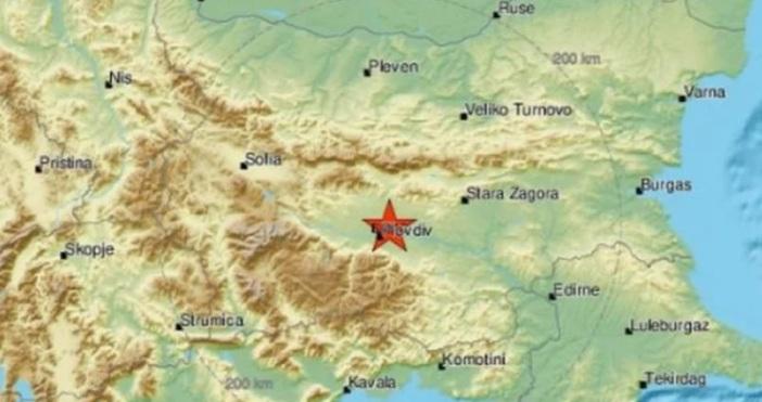Земетресение с магнитуд 2.5 е регистрирано в района на Пловдив