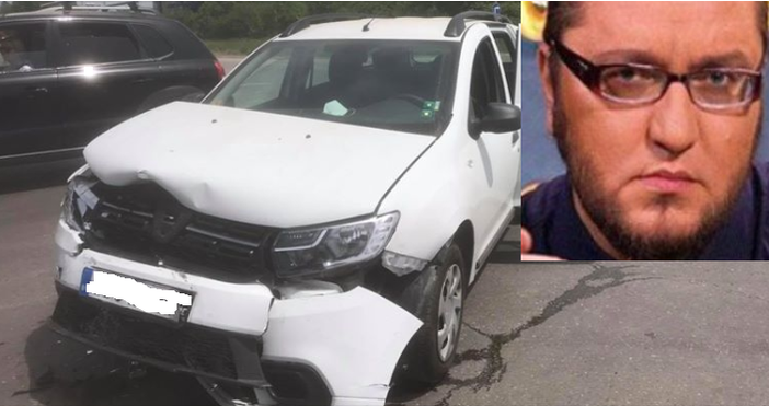 Колата на журналиста Мартин Карбовски е била ударена. Младеж е