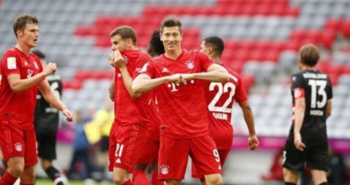 Снимка ТуитърБайерн (Мюнхен) разби с 5:0 Фортуна (Дюселдорф) в мач
