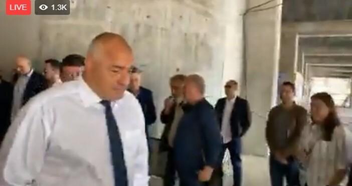 Премиерът Бойко Борисов прави инспекция на новия спортният комплекс