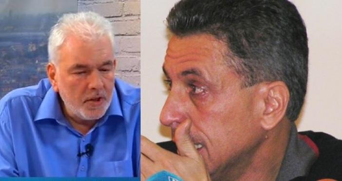 """Кадър Булфото. вляво доц. Боюклиев, вдясно кметът на Пазарджик""""Не му"""