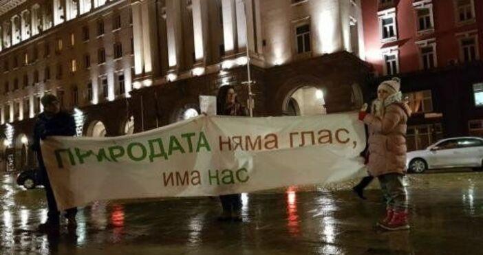 Десетки екоактивисти протестираха пред сградата на Народното събрание срещу застрояването