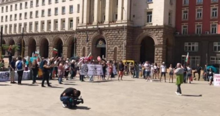 Кадър: БТВПротестно шествие срещу приемането на Закона за социалните услуги