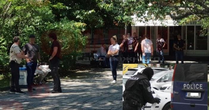 Кадър Флагман и БулфотоВ центъра на града ври от спецполицаи,