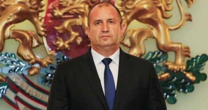 Снимка Булфото     Президентът Румен Радев си