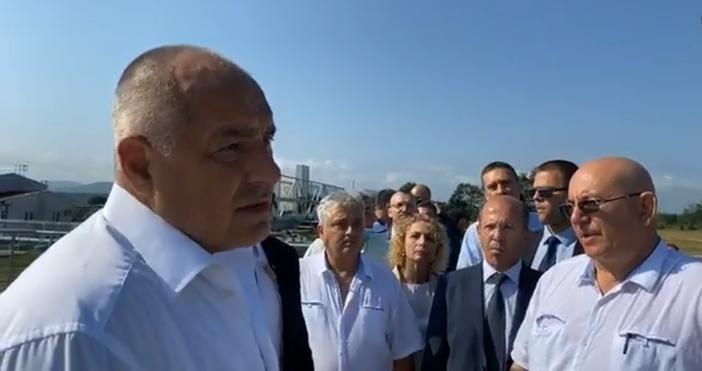Кадър и видео: фейсбукПреди минути премиерът Бойко Борисов пристигнав област
