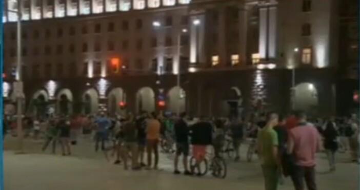 БНТкадър: БНТМинути преди 23 ч приключи протестът, който започна в