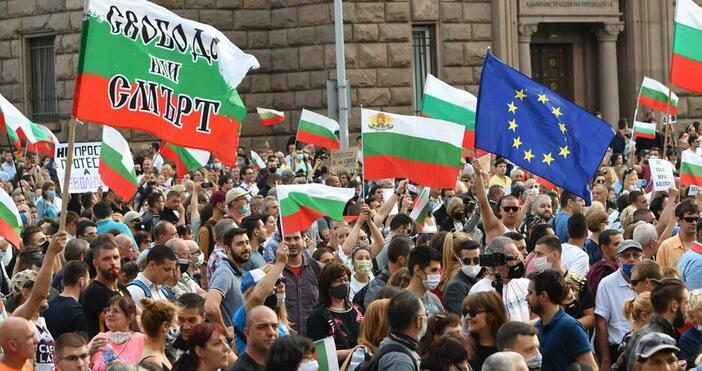 Снимка БулфотоОбщо 58% от българите приемат, чеенужна оставка на правителството,