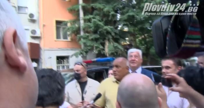Кадър plovdiv24.bgПри изненадващата визита на Бойко Борисов в Пловдив, премиерът