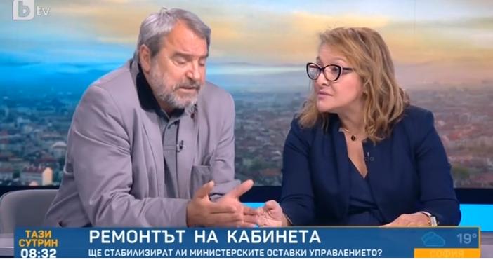 Редактор:Недко Петровe-mail:nedko_petrov_petel.bg@abv.bgКадър: БТВСкандал избухна в ефира на БТВ след размяна