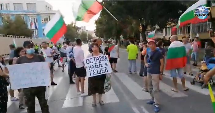 Снимка и видео: Blagoevgrad-NewsНа две места в Благоевград се провеждат