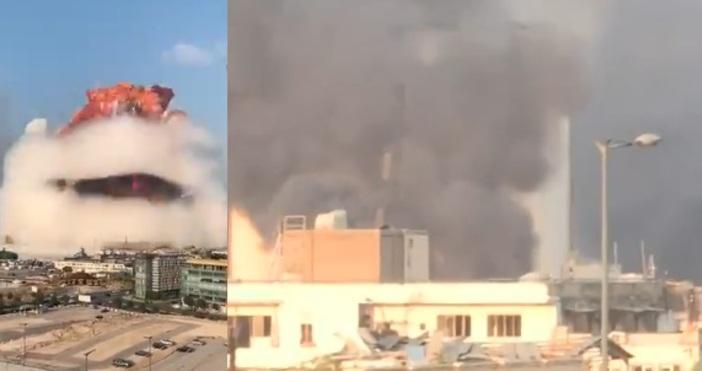 Стопкадър РТСилна екзплозия разтърси ливанската столица Бейрут. Взривът е станал