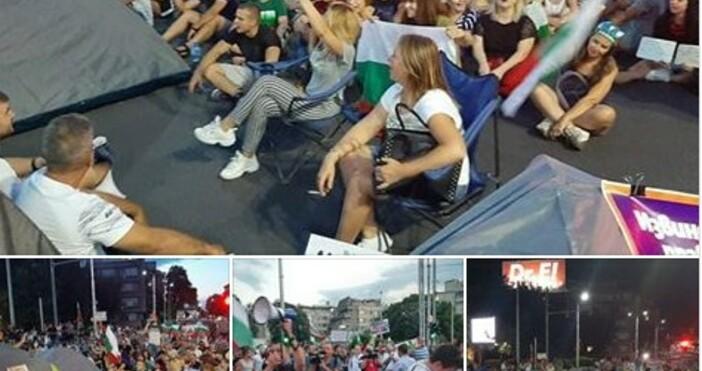 фото: Отровното трио, фейсбукПалатков лагер в Пловдив. Протестиращите са на