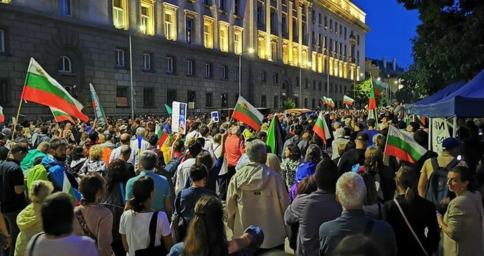 И Мая Манолова сподели снимки от протеста в София тази