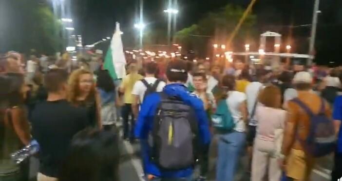 кадър и видео: Любословие бгДнес на протеста в София демонстрантите