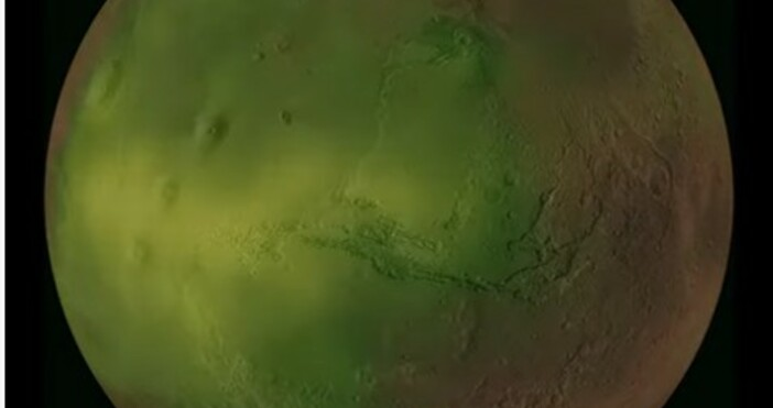 nauka.offnews.bgкадър; НАСАКогато Слънцето потъне всиния залези нощта падне над прашните